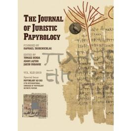 JJP 43 (2013) Journal of Juristic Papyrology