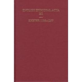 English Episcopal Acta vol 12
